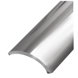 Hollow-Back Half Oval 316 Stainless Steel Rub Rail