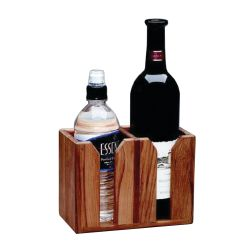 Teak Two Bottle Wine Holder