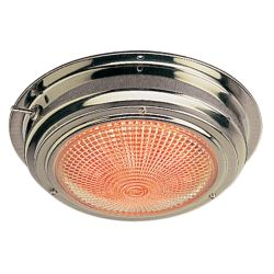 "6-3/4"" LED SS Day/Night Dome Light - 5"" Lens"