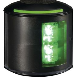 Aqua Signal Series 43 LED Navigation Light - Starboard, Black Housing