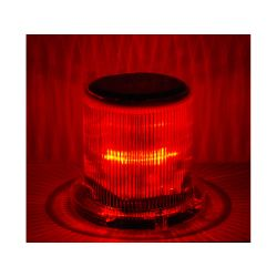 SOLAR WARNING LIGHT LED RED