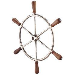 Bronze Wheel with Teak Handles