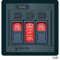 Blue Sea Remote Control Panels, 2 x Battery, 1 x ACR