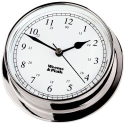 Endurance 125 Quartz Clock - Chrome