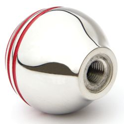 BALL HANDLE CHROME/RED STRIPE