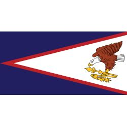 12X18IN AMERICAN SAMOA FLAG NYL-GLO