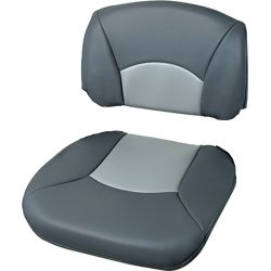 High Back All-Weather/Profile Replacement Cushions - Charcoal/Gray