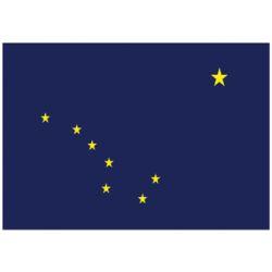 12X18IN ALASKA FLAG NYL-GLO