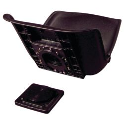 All-Weather Low Back Seat Shell w/ Quick Disconnect Mount - Black