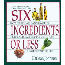 SIX INGREDIENTS OR LESS COOKBOOK