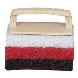 Scrub Kit Handle with 3 Pads