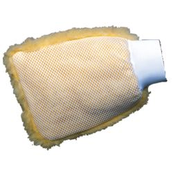 Synthetic Wool Wash Mitt with Mesh Fibers