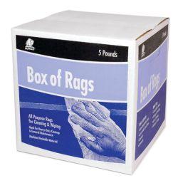 PRE BLEACHED KNIT RAGS 5# BOX