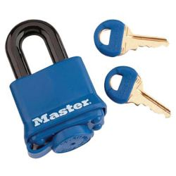 BLUE THERMOPLASTIC COVER PADLOCK