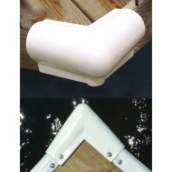 MOLDED 90DEG CORNER 6X6IN PVC WHT