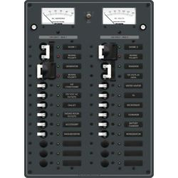 3 Sources Selector⁄AC Main + 18 Positions Circuit Breaker Panel