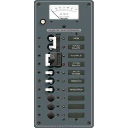 2 Sources Selector⁄AC Main + 6 Positions Circuit Breaker Panel