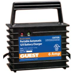 12 6A PORTABLE BATTERY CHARGER