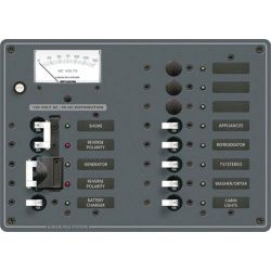 2 Sources Selector⁄AC Main + 9 Positions Circuit Breaker Panel
