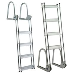 ALU 3 STEP FLIP UP DOCK/RAFT LADDER