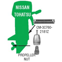 Nissan⁄Tohatsu Anodes - Zinc