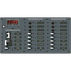 2 Sources Selector⁄AC Main + 17 Positions Circuit Breaker Panel