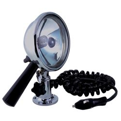 12V 4-1/2IN CHR BRS HANDHELD SEARCHLIGHT