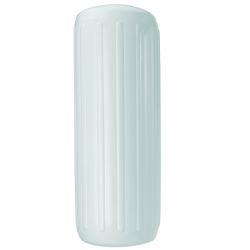 12X34IN WHT RIBBED FENDER W/HOLE