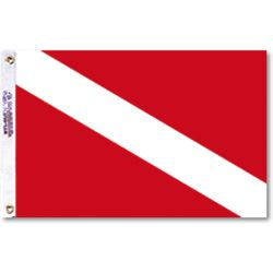 12 X 18IN SKIN DIVER FLAG NYL-GLO