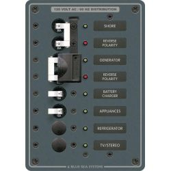 2 Sources Selector⁄AC Main + 4 Positions Circuit Breaker Panel