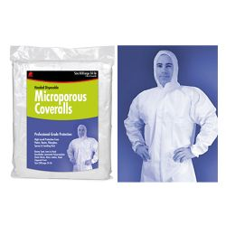 MICROPOROUS COVERALLS HOODED MED
