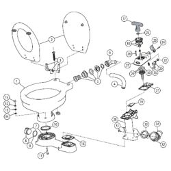 Jabsco Manual Toilet - Spare Parts