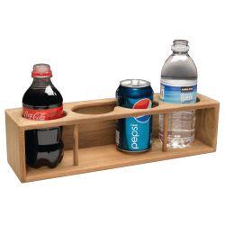 FOUR DRINK/BINOCULAR RACK, TEAK