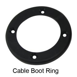 CABLE BOOT REINFORCING RING 4.5IN BK