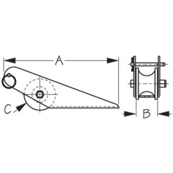 Medium Fairlead Bow Roller
