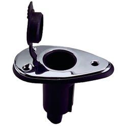 CHR BLK PLUG BASE ONLY 2 PIN