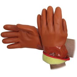 INSULATED VINYL GLOVE LARGE- RUST