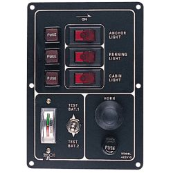 Switch/Fuse Panel w/Battery Tester & Horn Button or Lighter