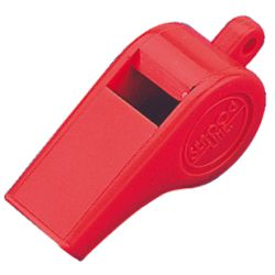 POLICE WHISTLE LARGE RED