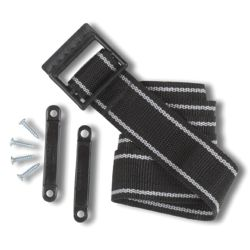 KIT BATT BOX STRAP 54IN BLACK/WHITE
