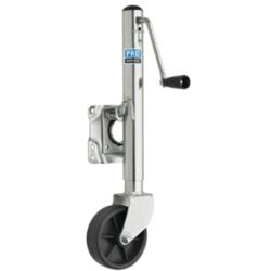 1000LB SWIVEL JACK ZNC PL 6IN POLY WHEEL