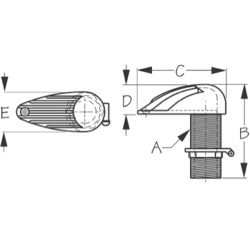 High Speed Slotted Intake Strainer - with Pipe