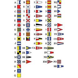 INTERNATIONAL CODE FLAG SET 12X18