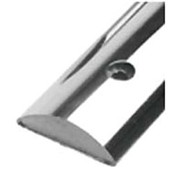 Half Oval SS Rub Rail  -  Solid Back