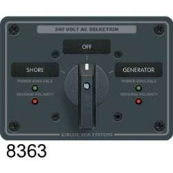 #9019 120⁄240V AC 2-Source Selector Rotary Switch & Panels - 65A