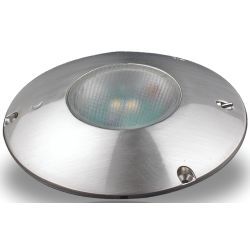 LED Flush Mount Round Light - Brushed Nickel