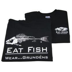 EAT FISH TSHIRT BLACK