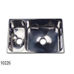 SS DOUBLE SINK 19-1/2IN X 13IN X 6IN