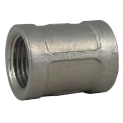 1/8IN NPT SS MACHINED COUPLING