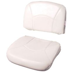 High Back All-Weather/Profile Replacement Cushion - White/White